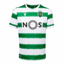 20/21 Sporting Lisbon Home Green&White Soccer Jerseys Shirt