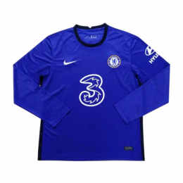 20/21 Chelsea Home Blue Long Sleeve Jerseys Shirt