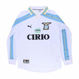 99/00 Lazio Away White Retro Long Sleeve Jerseys Shirt