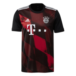 20/21 Bayern Munich Third Away Black&Red Jerseys Shirt