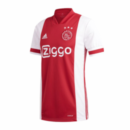 20/21 Ajax Home Red&White Soccer Jerseys Shirt