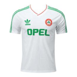 1990 Ireland Away White Retro Soccer Jersey Shirt
