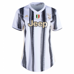 20/21 Juventus Home Black&White Women's Jerseys Shirt