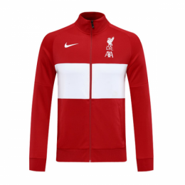 20/21 Liverpool Red&White High Neck Collar Training Jacket