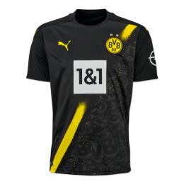 20/21 Borussia Dortmund Away Black Soccer Jersey Shirt(Player Version)