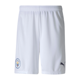 20/21 Manchester City Home White Jerseys Short
