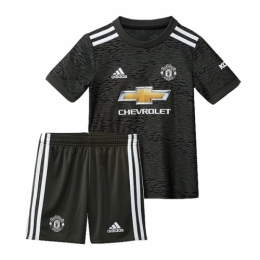 20/21 Manchester United Away Black Children's Jerseys Kit(Shirt+Short)