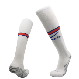20/21 PSG Away White Soccer Jerseys Socks