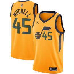 Men's Utah Jazz Donovan Mitchell No.45 Jordan Brand Gold 202021 Swingman Jersey - Statement Edition