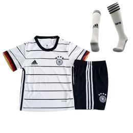 2020 Germany Home White Children's Jerseys Whole Kit(Shirt+Short+Socks)