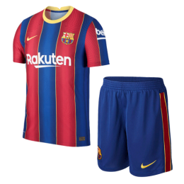 20/21 Barcelona Home Blue&Red Soccer Jerseys Kit(Shirt+Short)