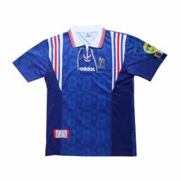 1996 France Home Blue Retro Soccer Jerseys Shirt