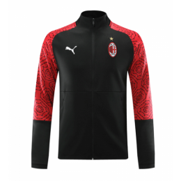 20/21 AC Milan Black High Neck Collar Training Jacket