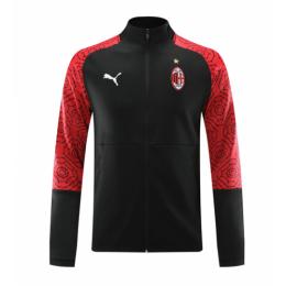 20/21 AC Milan Black High Neck Collar Training Jacket