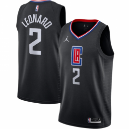 Men's LA Clippers Kawhi Leonard No.2 Jordan Brand Black 202021 Swingman Jersey - Statement Edition