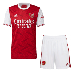 20/21 Arsenal Home Red Soccer Jerseys Kit(Shirt+Short)