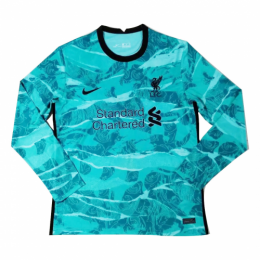 20/21 Liverpool Away Green Long Sleeve Jerseys Shirt