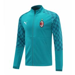 20/21 AC Milan Cyan High Neck Collar Training Jacket