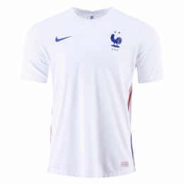 2020 France Away White Soccer Jerseys Shirt(Player Version)