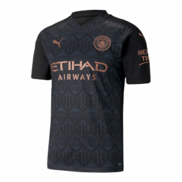 20/21 Manchester City Away Black Jerseys Shirt(Player Version)