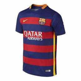 15/16 Barcelona Home Red&Blue Retro Soccer Jerseys Shirt