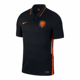 2020 Netherlands Away Black Soccer Jerseys Shirt(Player Version)