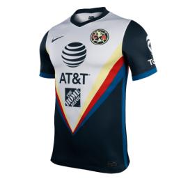20/21 Club America Away Black&White Soccer Jerseys Shirt(Player Version)