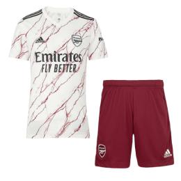 20/21 Arsenal Away White Soccer Jerseys Kit(Shirt+Short)