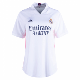 20/21 Real Madrid Home White Women's Jerseys Shirt