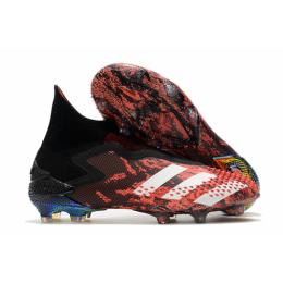 AD Predator Mutator 20+ FG Soccer Cleats-Black&Red