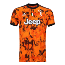 20/21 Juventus Third Away Orange Soccer Jerseys Shirt(Player Version)