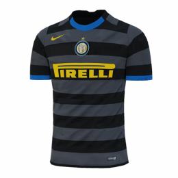 20/21 Inter Milan Third Away Gray&Black Soccer Jerseys Shirt(Player Version)