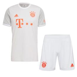 20/21 Bayern Munich Away Gray Jerseys Kit(Shirt+Short)