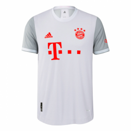 20/21 Bayern Munich Away Light Gray Jerseys Shirt(Player Version)