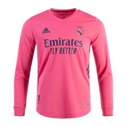 20/21 Real Madrid Away Pink Long Sleeve Jerseys Shirt
