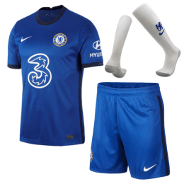 20/21 Chelsea Home Blue Soccer Jerseys Whole Kit(Shirt+Short+Socks)