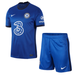 20/21 Chelsea Home Blue Soccer Jerseys Kit(Shirt+Short)