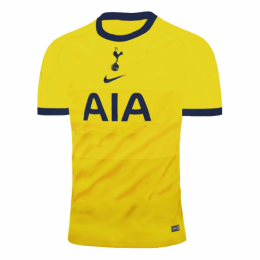20/21 Tottenham Hotspur Third Away Yellow Soccer Jerseys Shirt(Player Version)