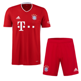 20/21 Bayern Munich Home Red Jerseys Kit(Shirt+Short)