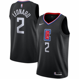Men's LA Clippers Kawhi Leonard No.2 Black Swingman Jersey