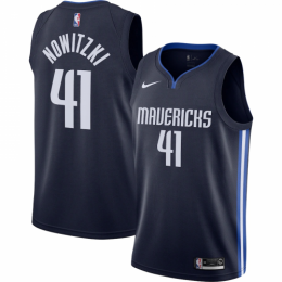 Men's Dallas Mavericks Dirk Nowitzki No.41 Nike Navy Finished Swingman Jersey - Statement Edition