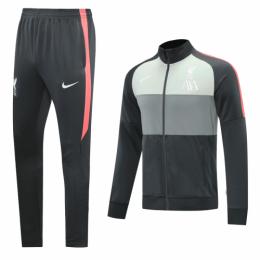 20/21 Liverpool Gray&Light Green High Neck Collar Training Kit(Jacket+Trouser)