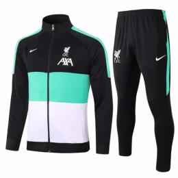 20/21 Liverpool Black&Green&White High Neck Collar Training Kit(Jacket+Trouser)