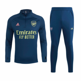 20/21 Arsenal Navy Zipper Sweat Shirt Kit(Top+Trouser)