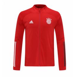 20/21 Bayern Munich Red High Neck Collar Training Jacket