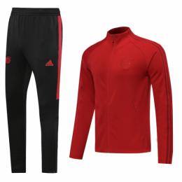 20/21 Bayern Munich Dark Red High Neck Collar Training Kit(Jacket+Trouser)