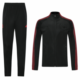 20/21 Manchester United Black&Red High Neck Collar Training Kit(Jacket+Trouser)