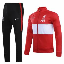 20/21 Liverpool Red&White High Neck Collar Training Kit(Jacket+Trouser)