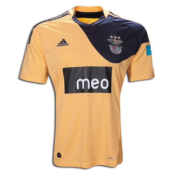 best website bd551 9364e 10-11 Benfica Away Jersey Shirt