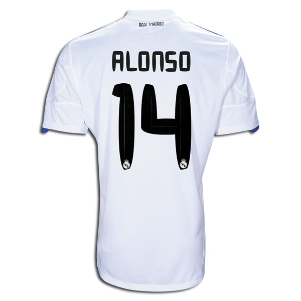 size 40 2d35d e4862 10/11 Real Madrid #14 Alonso Home Jersey Shirt
